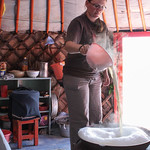 Rosie Making Something in the Traditional Mongolian Method (Can't Remember What Though :-()