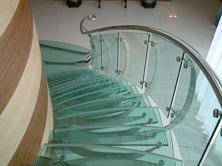 Glass for stairs