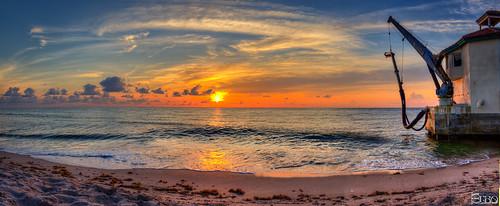 ocean sun beach clouds sunrise boats fishing sand waves florida panoramic pumphouse hdr boyntonbeach boynton photomatix topazlabssoftware topazplugins