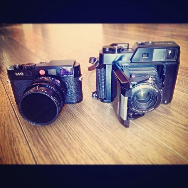 Leica vs Fuji | Leica M9 vs Fuji GS645 size comparison  35mm… | Flickr