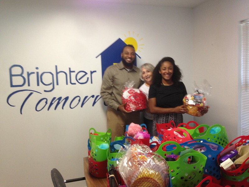 Some of our baskets were delivered to Brighter Tomorrows in Irving.