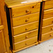 Pine 5 drawer slim unit