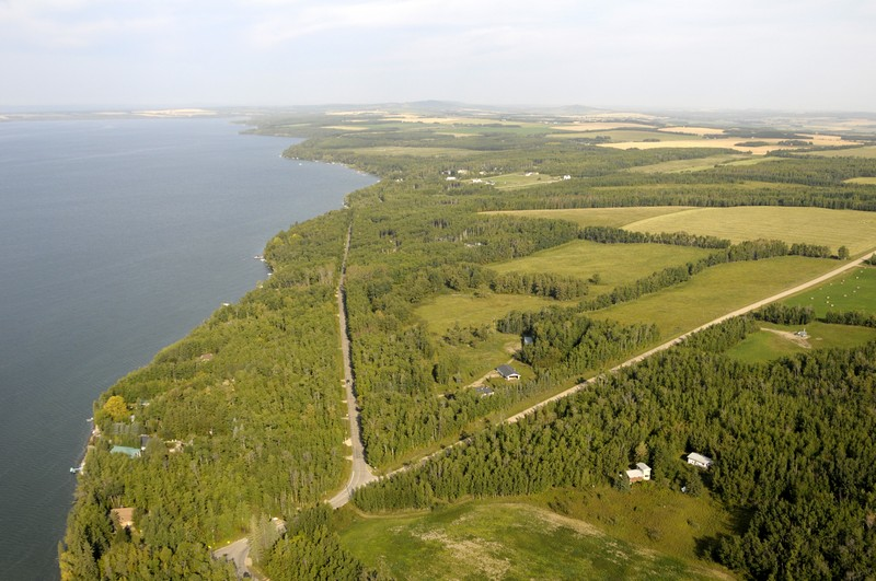 Aerial view of Sylvan Lake and the Slopes