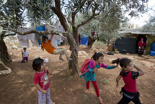 Syrian refugees have found temporary safety in Kafar Kahel informal settlement in the Koura District | by World Bank Photo Collection