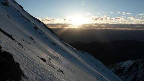 mountain sunrise indian himalaya indien ladakh ascent stok kangri