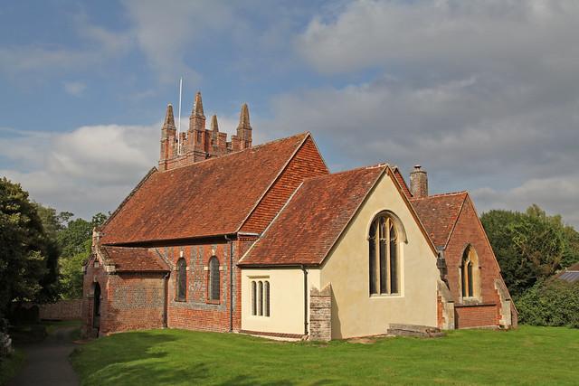 Eversley Parish church of St Mary 1724-35 built by John James