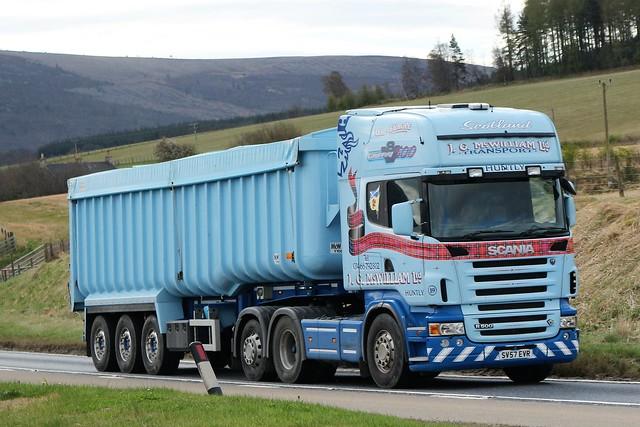 J G McWilliam Transport Ltd Scania Topline R500 V8 SV57EVR