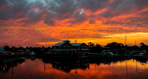 stuartfl miamifl miami sunset colors seashore creek red waterways walkingaround exploration unitedstates navigating outdoors skies clouds yacht port
