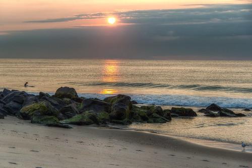 2014 summer beach atlantic ocean oceangrove monmouthcounty newjersey nj og hdr cloudy sunrise