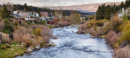 california sunset mountains color river town spring truckee truckeeriver