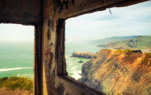 sanfrancisco california wwii worldwarii op marinheadlands bunkers observationpost