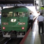 いつかこの山陽本線岡山駅 117系T2編成 抹茶色 金光臨だったと思う #いつかの #鉄道写真 #いつかのシリーズ