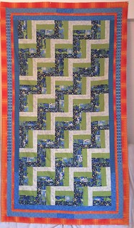 Rail fence patchwork quilt