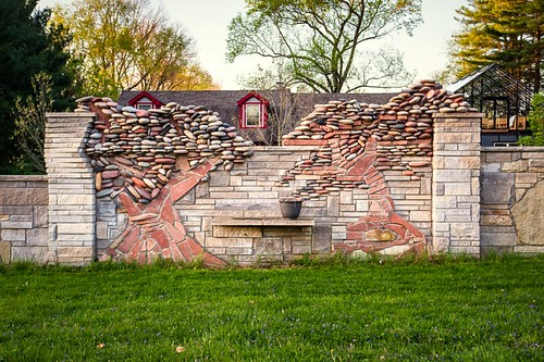 bloomington indiana architecture landscape 7dwf limestone riverrock texture pattern wall fence color art leicaq