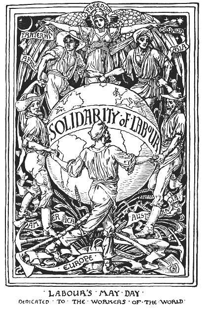 Solidarity of Labour by Walter Crane 1889