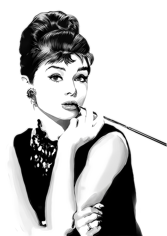8023a709d ... Audrey Hepburn Breakfast at Tiffany's Digital Art | by David Alexander  Elder
