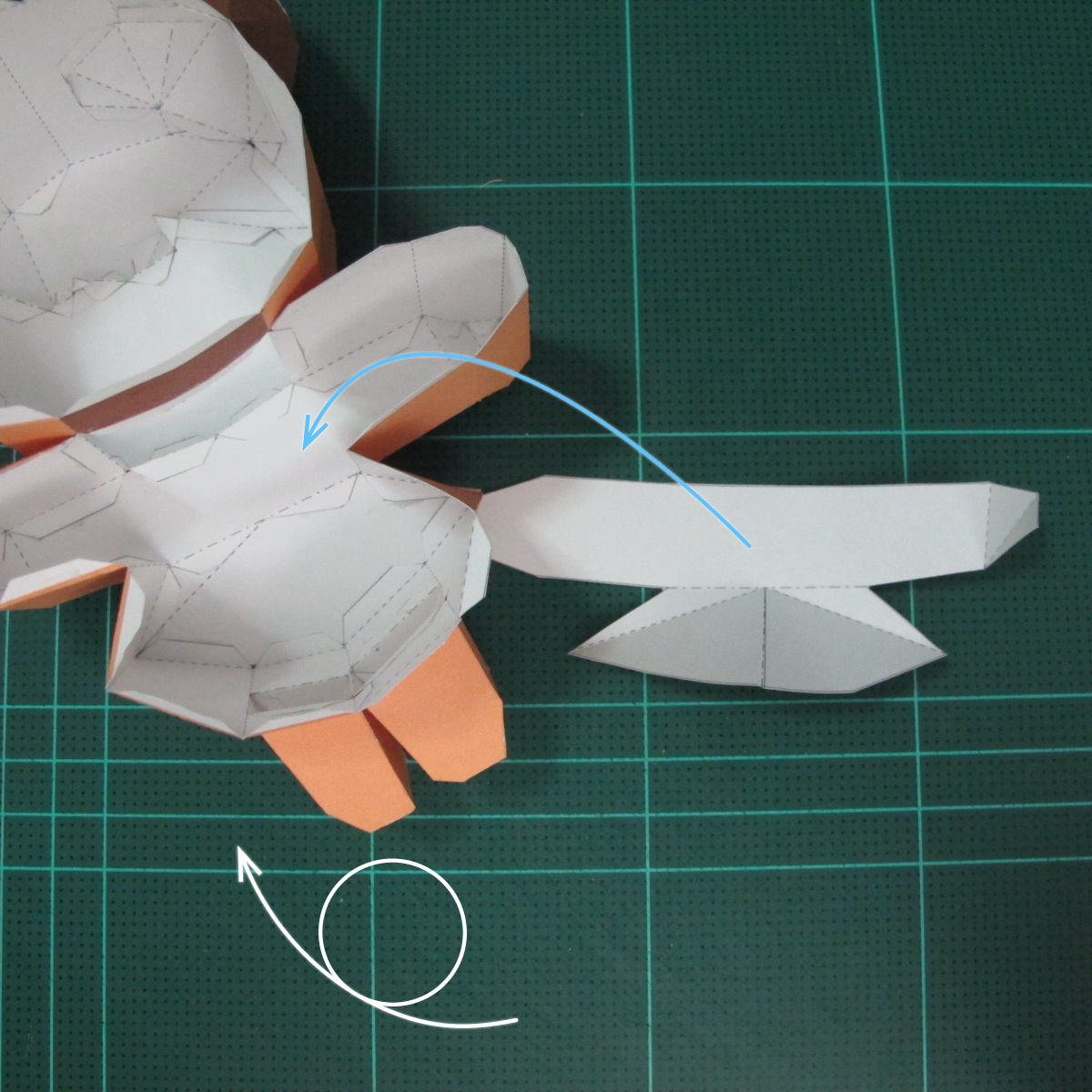 วิธีทำโมเดลกระดาษตุ้กตา คุกกี้สาวผู้ร่าเริง จากเกมส์คุกกี้รัน (LINE Cookie Run – Bright Cookie Papercraft Model) 022