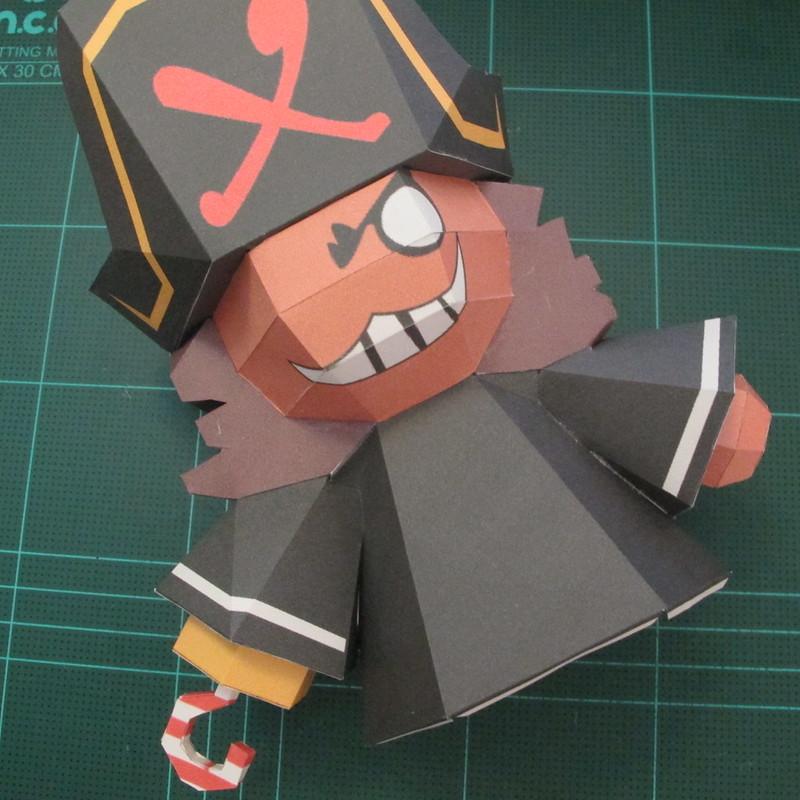 วิธีทำโมเดลกระดาษคุกกี้รัน คุกกี้รสโจรสลัด (Cookie Run Pirate Cookie Papercraft Model) 009