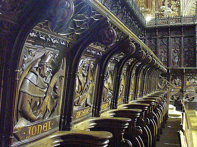 LEÓN.- Pulchra Leonina. Detalle del coro. / Detail of the choir.