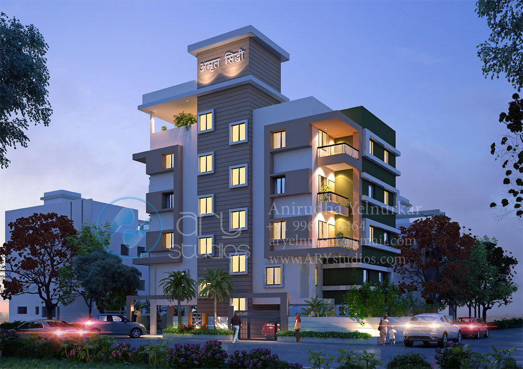 3d+modern+apartment+rendering+architectural+dusk+view+real