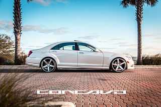 Mercedes Benz S550 on CW-5 Matte Grey Machined Face | by Concavo Wheels