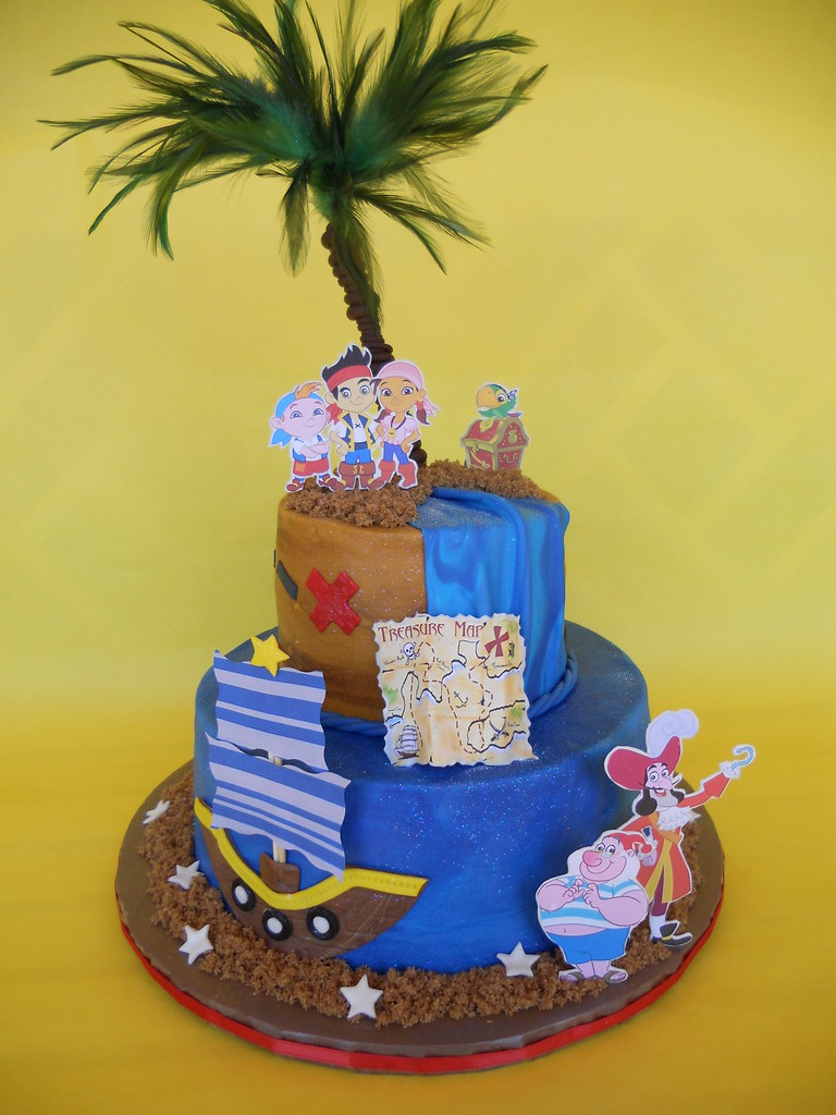 Pleasant Jake And The Neverland Pirates Birthday Cake Amy Stella Flickr Funny Birthday Cards Online Inifodamsfinfo