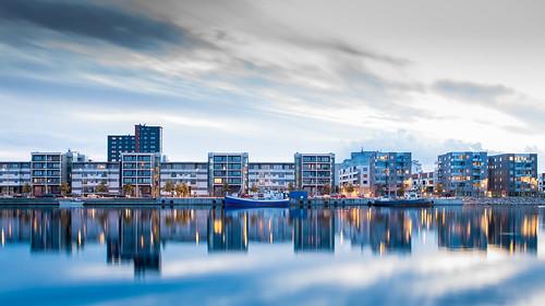 sunset cloudy sweden cement sverige malmö kalk residentialarea theisland solnedgång ön limhamn bostadsområde sundskajen sundsholmen