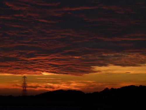 sunset orange clouds lumix dusk dramatic panasonic fireinthesky 50v5f fz100