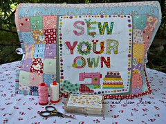 Kimberly's Garden jelly roll sewing machine cover.
