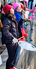 Drumming for Planned Parenthood  Supporters