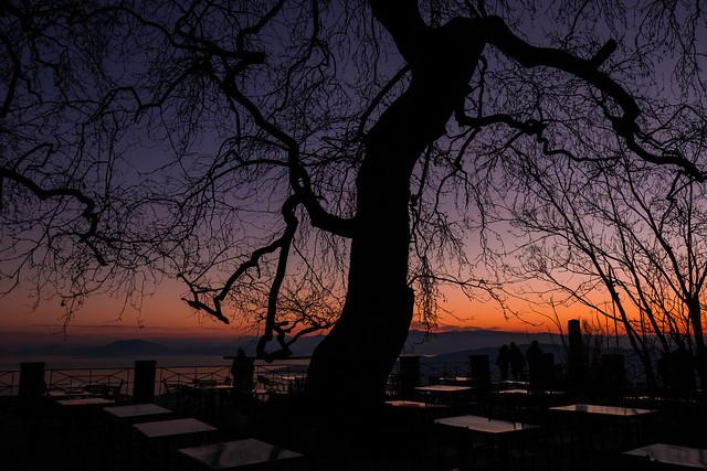 Makrinitsa sunset
