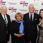 Thu, 08/05/2014 - 6:13pm - 2014's four honorees: Verne Lundquist, Mavis Staples, Scott Simon and Katherine Oliver. At Gotham Hall, NYC, May 8, 2014. Photo by Chris Taggart