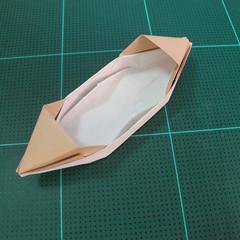 การพับกระดาษเป็นรูปเรือเรือสำปั้น (Origami Sampan) 014