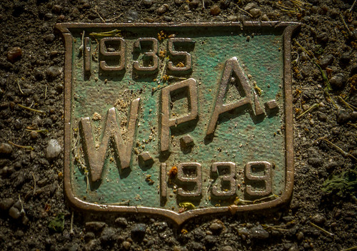 WPA plaque at Prospect Terrace | by pvdEric