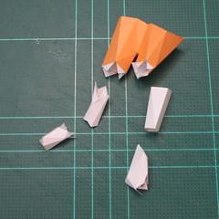วิธีทำโมเดลกระดาษตุ้กตา คุกกี้รสราชินีสเก็ตลีลา จากเกมส์คุกกี้รัน (LINE Cookie Run Skating Queen Cookie Papercraft Model) 022