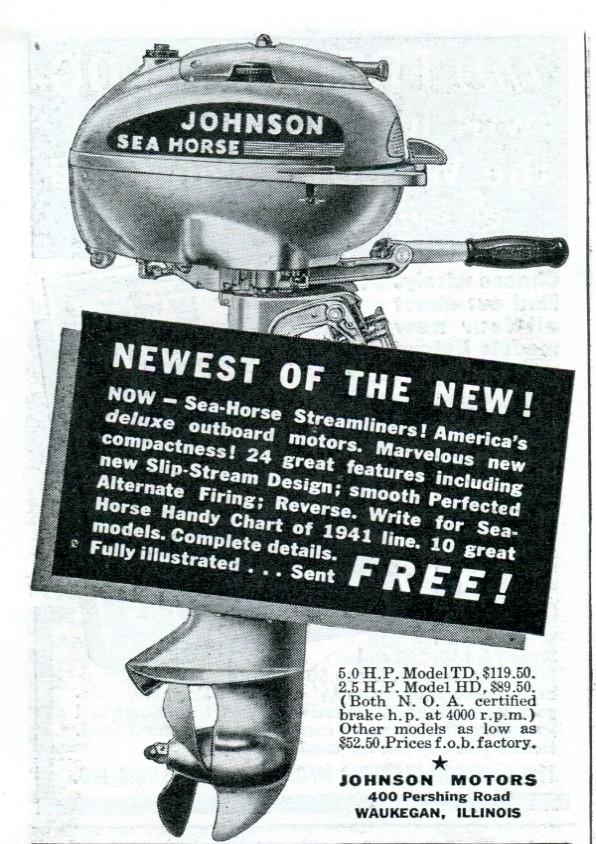 ... 1941 Johnson Sea Horse Outboard Motor Advertisement Popular Mechanics April 1941 | by SenseiAlan