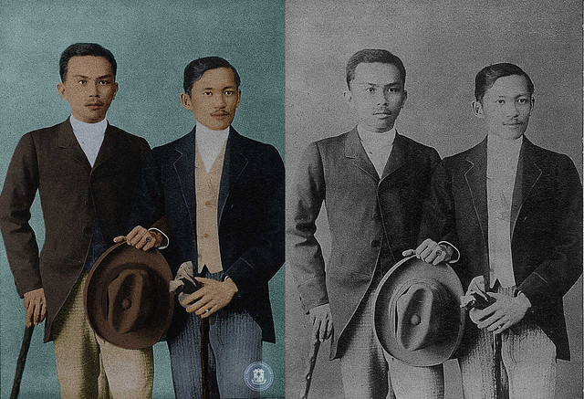 Rizal with Sixto Lopez in Hong Kong.