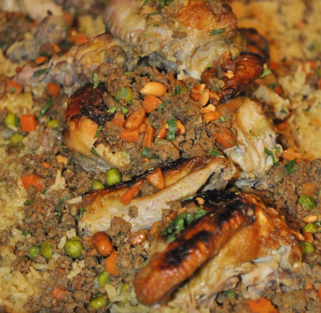 Classic Jordanian Dish Of Chicken, Rice Pine Nuts