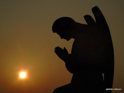 statue headstone cemetery donegal sun sky