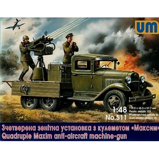 unimodel-unim511-soviet-truck-gaz-aaa-with-anti-aircraft-plant-maksim | by slateworks