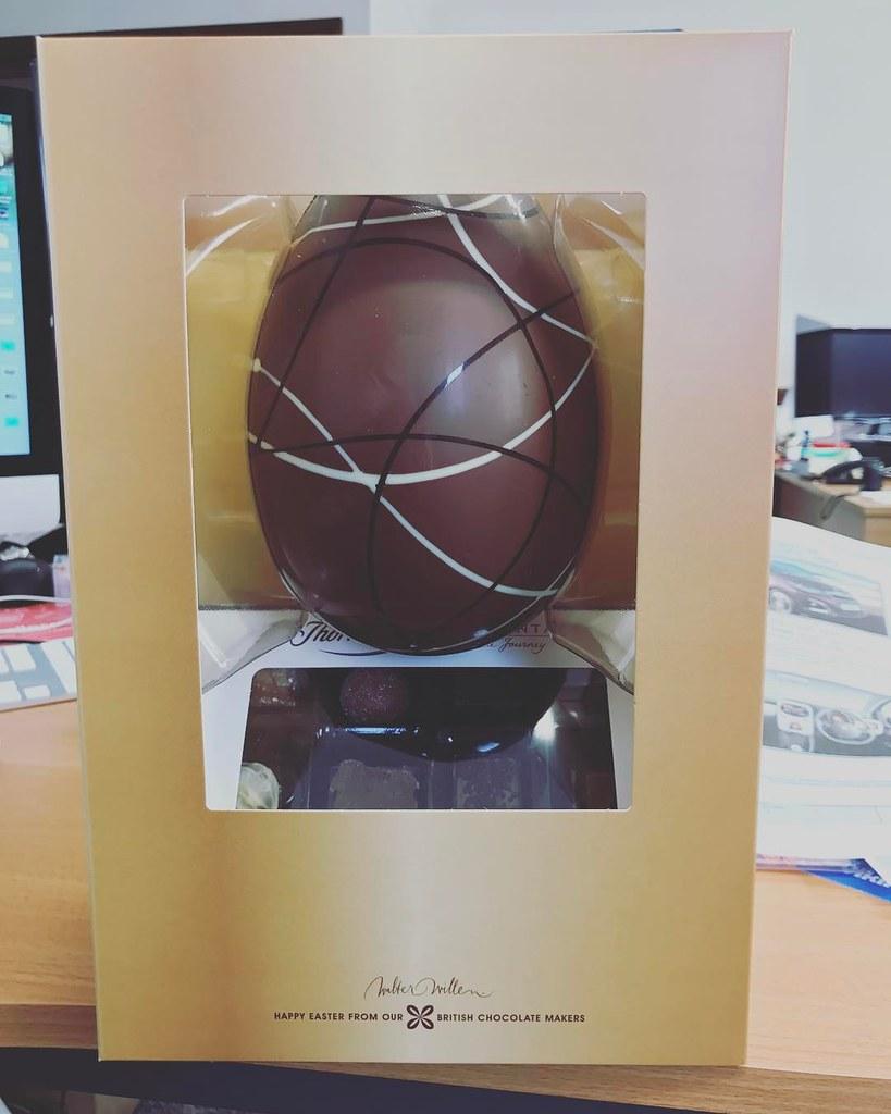 Mrs @rebecca_d_adams bought me a giant Easter egg! Xxxx #e