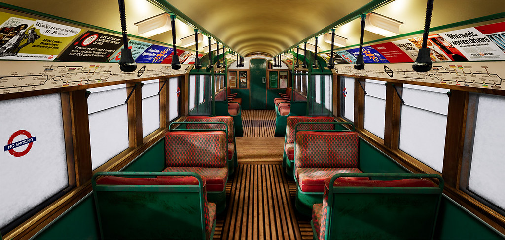 London Tube Train Interior - Unreal Engine | The 1938 tube s