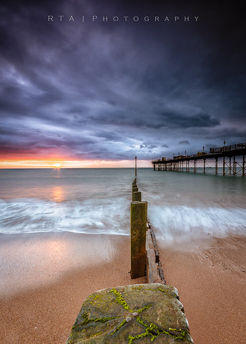 teignmouth devon dawn sunrise storm clouds sky groyne beach seascape rtaphotography pier waves sea