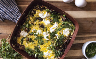 Arugala and Goat Cheese Frittata 2 | by theSeasonaljunkie