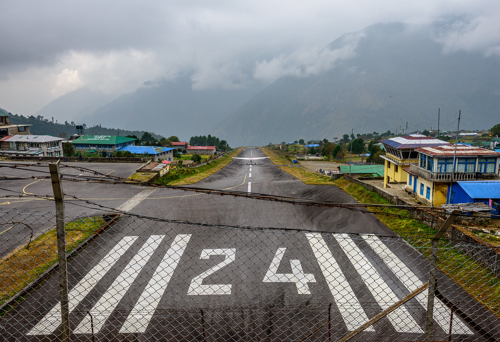 Runway in Lukla, Nepal