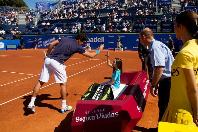 Escort Kids de la Fundación Sant Joan de Déu en la semifinal del Barcelona Open Banc Sabadell