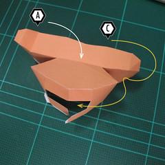 วิธีทำโมเดลกระดาษตุ้กตา คุกกี้สาวผู้ร่าเริง จากเกมส์คุกกี้รัน (LINE Cookie Run – Bright Cookie Papercraft Model) 016