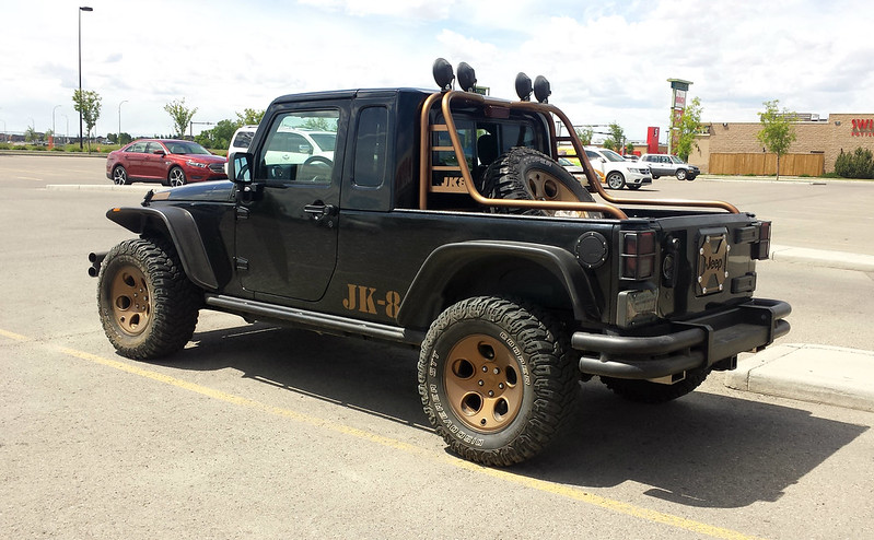Jeep with JK8 conversion