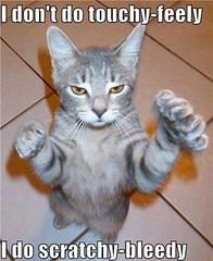 I Dont Do Touchy-Feely ~ I Do Scratchy-Bleedy....