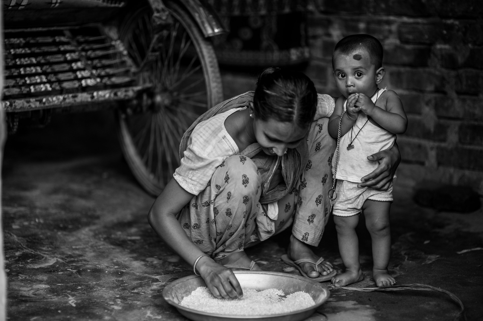 Rice & Child.